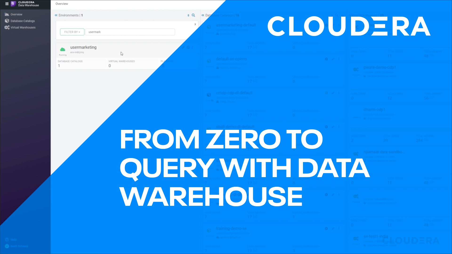 From 0 to Query with Cloudera Data Warehouse in CDP