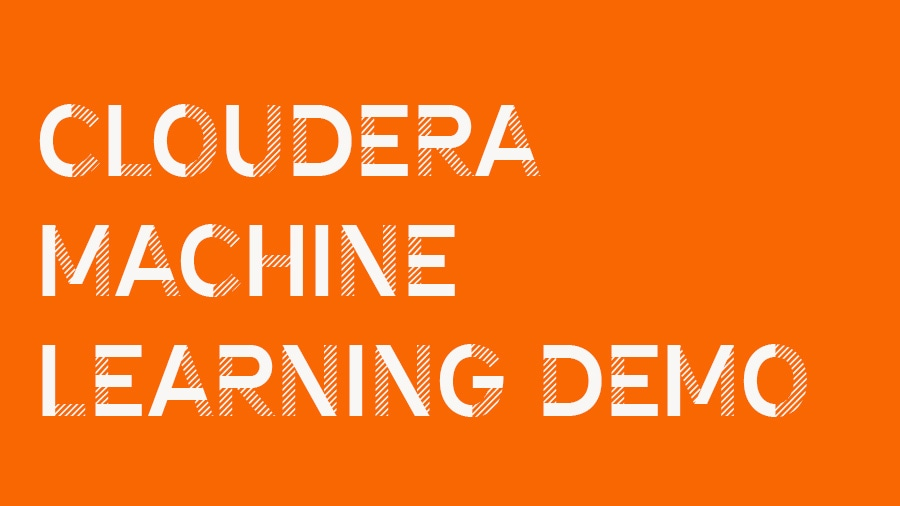 Cloudera Machine Learning demo
