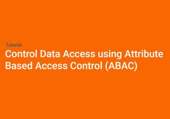 Control Data Access using Attribute Based Access Control (ABAC)